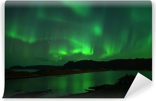 Northern lights over Northcape. October 08, 2013 Vinyl Wall Mural