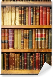 Old books, library Vinyl Wall Mural