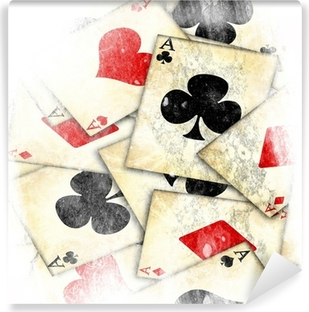 old playing card Vinyl Wall Mural