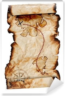 old treasure map Vinyl Wall Mural