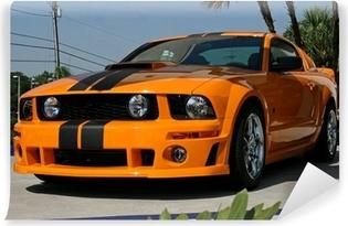 orange american muscle car Vinyl Wall Mural
