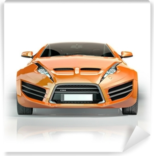 Sports car blueprint non branded concept car wall mural pixers orange sports car vinyl wall mural malvernweather Gallery