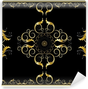 Gold frame in the Gothic style Frame Wall Mural Pixers We