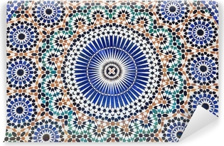 Oriental mosaic in Morocco, North Africa Vinyl Wall Mural