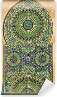 Ornate mosaic on a Moroccan mosque Vinyl Wall Mural