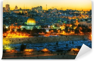 Overview of Old City in Jerusalem, Israel Vinyl Wall Mural