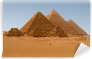 Panaromic view of six Egyptian pyramids in Giza, Egypt Vinyl Wall Mural
