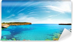 Panorama of the bay with rocky shores, Mallorca, Spain Vinyl Wall Mural