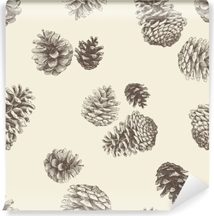 pattern of the pinecones Vinyl Wall Mural