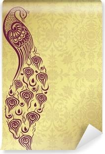 peacock, wedding card design, royal India Vinyl Wall Mural