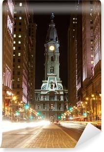 Philadelphia streets by night Vinyl Wall Mural