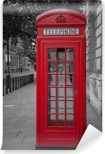 phone booth in london Vinyl Wall Mural