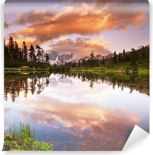 Picture lake Vinyl Wall Mural