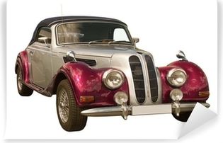 pink Oldtimer, Classic Car, Cabriolet Vinyl Wall Mural