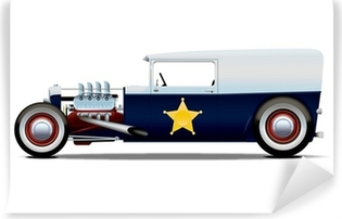 police hot rod Vinyl Wall Mural