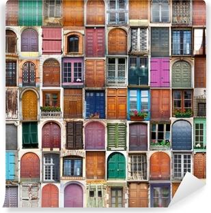 porte e finestre collage Vinyl Wall Mural