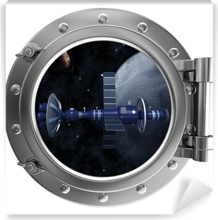 Porthole overlooking the spacecraft Vinyl Wall Mural
