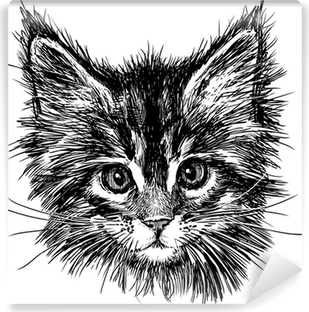 portrait of cat Vinyl Wall Mural
