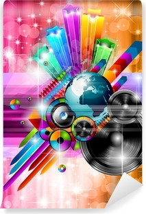 Poster Background for music disco event Vinyl Wall Mural