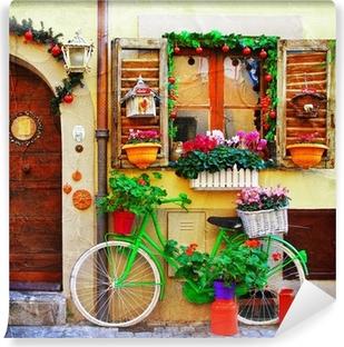 pretty streets of small italian villages Vinyl Wall Mural
