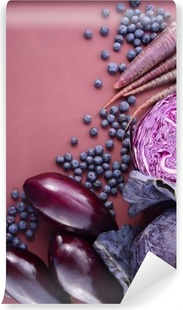 Purple fruits and vegetables Vinyl Wall Mural
