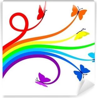 Rainbow butterflies Vinyl Wall Mural