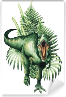 Realistic watercolor dinosaur Vinyl Wall Mural