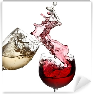 Red and white wine up together Vinyl Wall Mural