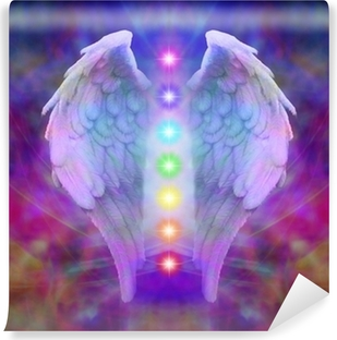 Reiki Angel Wings and Seven Chakras Vinyl Wall Mural
