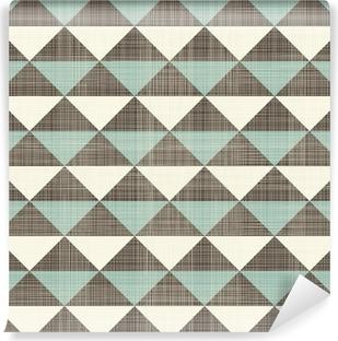 retro geometric triangles seamless pattern Vinyl Wall Mural