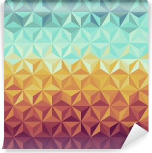 Retro hipsters geometric pattern. Vinyl Wall Mural