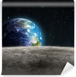 Rising Earth seen from the Moon Vinyl Wall Mural