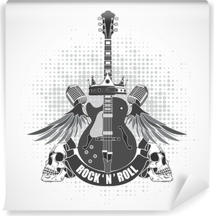 Rock n roll symbol Vinyl Wall Mural