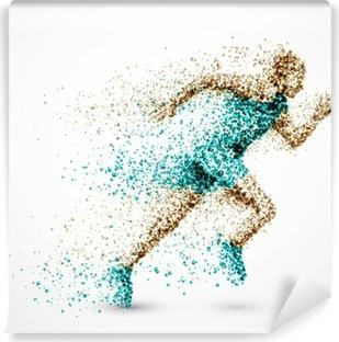 Running man Vinyl Wall Mural