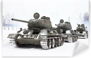 Russian Tanks T34 Vinyl Wall Mural
