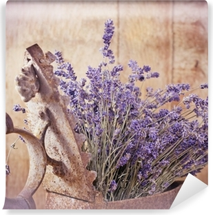 Rustic iron (old irin) and dry lavender Vinyl Wall Mural