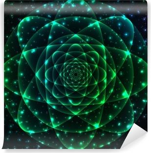 Sacred geometry symbol. Mandala mystery element Vinyl Wall Mural