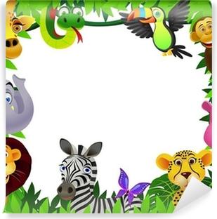 Safari animal cartoon Vinyl Wall Mural