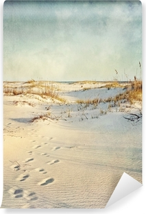 Sand Dunes at Sunset Textured Image Vinyl Wall Mural