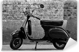 Scooter in front of a wall Vinyl Wall Mural