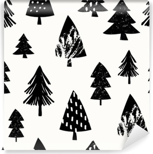 Seamless Christmas Pattern Vinyl Wall Mural