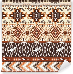 Seamless colorful aztec geometric tribal pattern Vinyl Wall Mural
