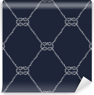 Seamless nautical rope pattern - Square knots Vinyl Wall Mural