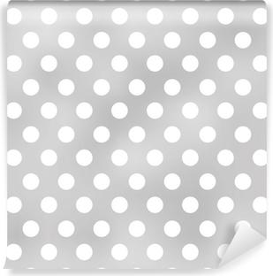 seamless polka dots grey pattern Vinyl Wall Mural