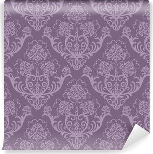 Seamless purple floral wallpaper Vinyl Wall Mural