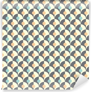 Seamless simple retro geometrical pattern of classic style Vinyl Wall Mural