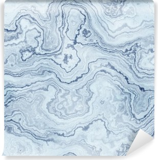 Seamless texture of blue marble pattern for background / illustration Vinyl Wall Mural