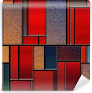 Seamless textured stained glass panel Vinyl Wall Mural