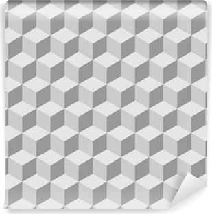 seamless tilable 3d isometric cube pattern Vinyl Wall Mural