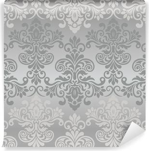 Seamless vintage pattern in grey Vinyl Wall Mural